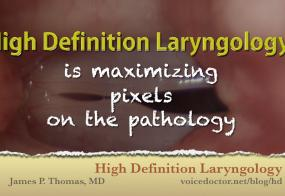 High Definition Laryngology Lecture